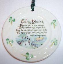 Belleek porcelain, An Irish Blessing, Made in Ireland Celtic Christmas ornament
