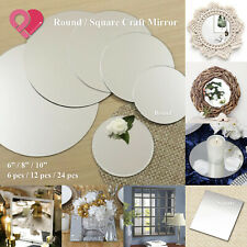 6, 8, 10 inch Round / Square Craft Mirror Mosaic Tiles Centerpiece Bulk 6-24 pcs