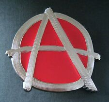 Anarchy Punk Rock Party Symbol A War Sign Belt Buckle Boucle de Ceinture
