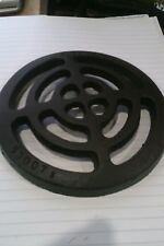 """round cast iron metal gulley grid grate 6"""" diameter drain cover"""