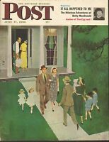 JUNE 17 1950 SATURDAY EVENING POST magazine cover print - ON WAY TO CHURCH