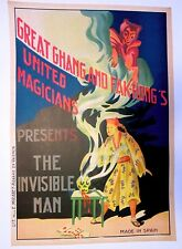 Collection of 2 Original Fak-Hong 1920's Magic Posters on Linen