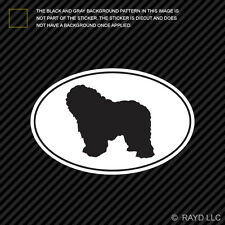 Polish Lowland Sheepdog Euro Oval Sticker Die Cut Decal Adhesive Vinyl dog pet