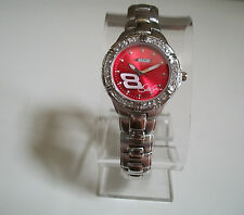 NASCAR  Silver Finish Collection Watch
