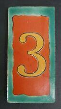 Rare Vintage D&M Number 3 Tile California