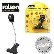 Rolson Mini Flessibile Clamp Clip sulla LUCE A BATTERIA 10 Lumen LED aa25