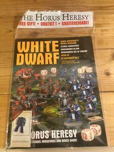 Warhammer White Dwarf Magazine - Issue 93 Nov 7 2015  + Pin Badge