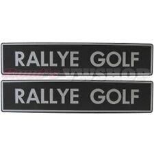 Original ALTE VERSION RALLYE GOLF Kennzeichenplatten VW Händler, NEU! RAR!