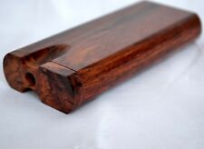 Premium Rosewood Dugout, Wooden One Hitter + 1 Spiked Metal Bat Pipe (Stash box)