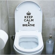 wall stickers adesivo wc keep calm and breathe bagno water toilette