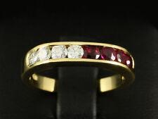 Hübscher Rubin Brillant Ring ca. 0,80ct  750/- Gelbgold