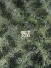 ROSE/ROSETTE MINKY FABRIC - Olive - BY THE YARD BABY SOFT BLANKET FUR EYEBUDS