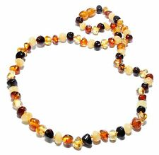 Genuine Baltic Amber Beads Necklace for Adult Mixed 43 - 45 cm