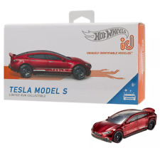 NEW TESLA MODEL S HOT WHEELS ID CAR RED LIMITED RUN COLLECTIBLE SERIES 1