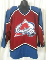 Vintage STARTER NHL Colorado Avalanche Jersey Mens Size XL Embroidered Away