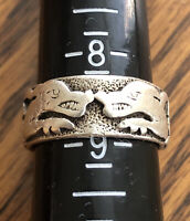 Sterling Silver PETER STONE PSCL Celtic Knot Dragon Solid Band Ring Size 8.5