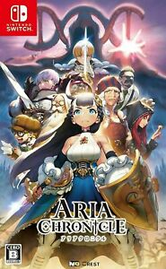 Aria Chronicle Ninendo Switch Japanese cover English game + Soundtrack CD