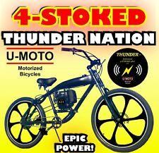 """New Motorized Bike Kit With 26"""" Mag Wheel Gas Tank Bike Easy Pull Start"""