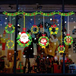 Christmas Window Stickers Wall Decals Xmas Home DIY Decor Vinyl Art Removable