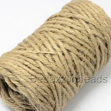 75 Feet 5 Ply 5mm Thick Natural Jute Twine String for Gardens and Hemp Crafts