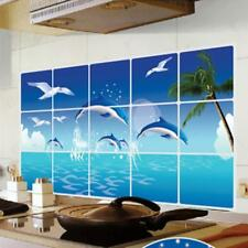 Dolphin Wall Stickers 3D Decals Ocean Fish Mural Art Wallpaper Home Decoration