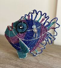 New ListingWire and glass beaded fish figurine