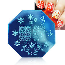 DIY Christmas Image Stamp Stamping Plates Manicure  Nail Art Print Plate