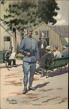 French Military Art Pierre Albert Leroux Card/Postcard INFIRMIERS #1