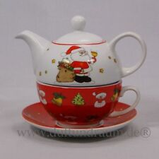 Teekannen mit Weihnachts-Muster