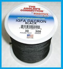 Woodstock Braided Dacron Fishing Line Black Color 30lb-300yd New! Free Usa Ship!