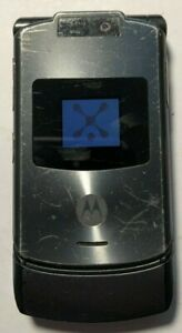 READ FIRST Motorola RAZR V3xx Gray (Unlocked) Cellular Phone Good Used