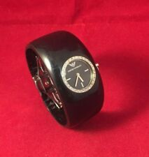 Armbanduhr Emporio Armani Frau AR0739 Quarz Schwarz