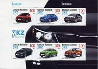 Kazakhstan 2017 MNH Cars JAC Hyundai Peugeot Skoda Lada Kia 6v M/S Stamps