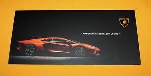 Lamborghini Aventador LP 700-4 Prospekt Brochure Catalog Folder Prospetto
