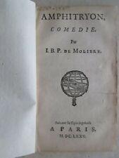 MOLIERE : AMPHITRYON comédie, 1675.
