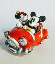 Mickey and Minnie Salt/Pepper Shakers in Retro Car