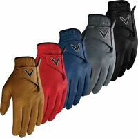 Callaway Golf 2019 Mens Opti-Colour Premium Leather Golf Gloves Left Hand