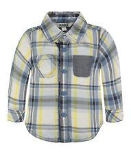 1712431 Kanz Jungen Baby Hemd langarm Gr. 68 Neu blau gelb kariert