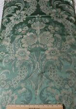 "French Antique 19thC Lyon Silk Brocaded Lampas ""Hamot"" Fabric Sample~L52""X W-22"""