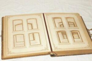 Old Art Nouveau Photo Album For Pappfotos CDV Cabinet Photos Empty Album