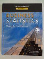 Business Statistics Instructor's Edition. Sharpe De Veaux Velleman