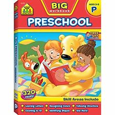 Big Preschool Workbook Colorful Exercises Learning Educational Material For Kids