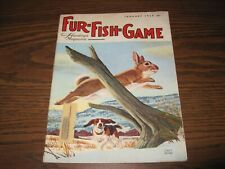 VINTAGE 1968 Fur-Fish-Game Mag JANUARY ISSUE; DOG AND WHITE TAIL RABBIT