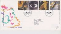 GB ROYAL MAIL FDC FIRST DAY COVER 2000 SOUND & VISION STAMP SET CARDIFF PMK