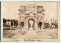 France, Vaucluse, Arc de Triomphe d'Orange (Marius) Vintage albumen print.