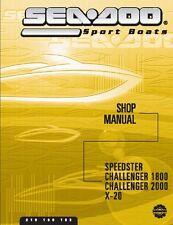Sea-Doo Vehicle Service Manual 2002 SPEEDSTER & 2002 X-20
