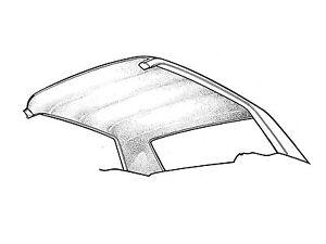 1965-1970 Mustang Coupe Headliner WHITE Moonskin
