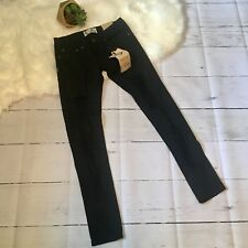 boohoo Jeans Women's SZ 4 US Black Denim Chloe Ripped Skinny SZ 8UK EUR36 NWT
