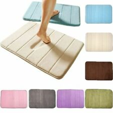 Absorbent Non-slip Bath Mats Memory Foam Bathroom Floor Shower Carpet Soft Rugs