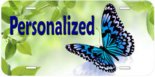 Blue Butterfly Personalized Custom Aluminum Car Auto Novelty License Plate P03